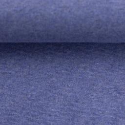buendchenstoff meliert blau naehzimmer mit herz onlineshop