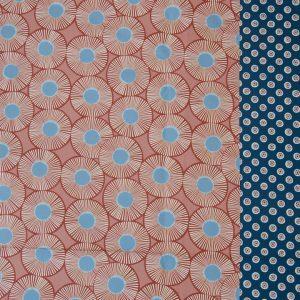 Baumwolle Stoff Emilie rot dunkelblau nahezimmer mit herz onlineshop stoff