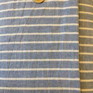 Leinen Stoff blau streifen naehzimmer mit herz onlineshop