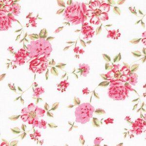 Westfalenstoff Rosenborg Stoff Baumwolle Rosen weiß rosa naehzimmer mit herz onlineshop stoffe