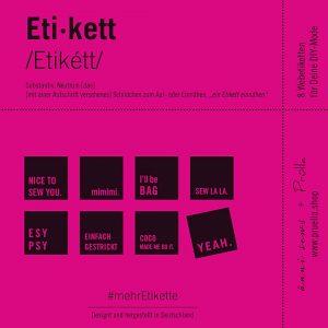 #mehrEtikette 2.Edition pink pruella aennisews naehzimmer mit herz onlineshop etiketten
