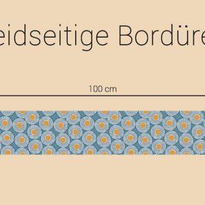 stoff baumwolle emilie tuerkis beige borduere naehzimmer mit herz onlineshop stoff