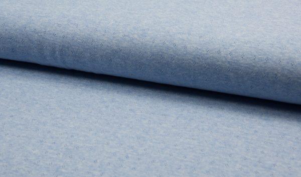 jersey cotton ajour blau meliert naehzimmer mit herz onlineshop