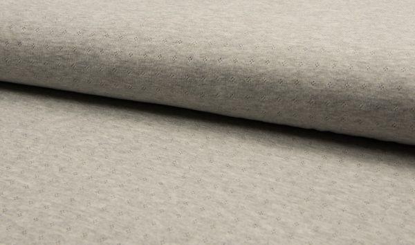 jersey cotton ajour grau melange naehzimmer mit herz onlineshop