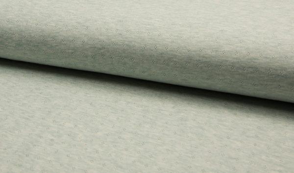 jersey cotton ajour mint melange naehzimmer mit herz onlineshop
