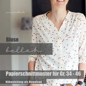 schnittmuster bellah bluse pruella naehzimmer mit herz onlineshop