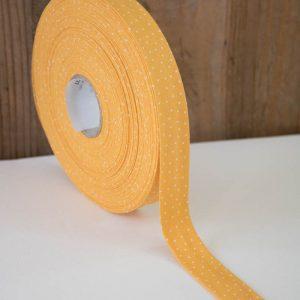 schraegband gelb weiss punkte capri westfalenstoffe naehzimmer mit herz onlineshop