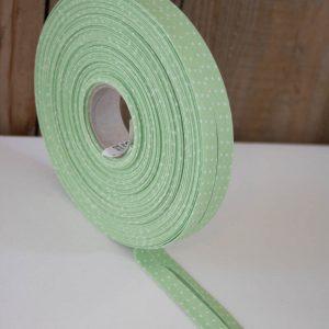 schraegband gruen weiss punkte capri westfalenstoffe naehzimmer mit herz onlineshop