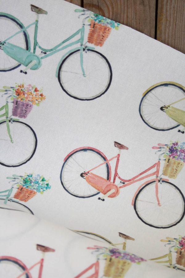 wachstuch fahrrad naehzimmer mit herz onlineshop