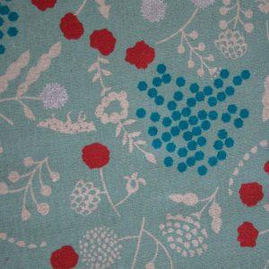 canvas kokka blumen türkis naehzimmer mit herz onlineshop