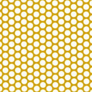 Stoff Baumwolle kopenhagen senf tupfen westfalenstoffe naehzimmer mit herz onlineshop