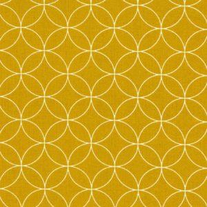 Stoff Baumwolle senf kreise kopenhagen westfalenstoffe naehzimmer mit herz onlineshop