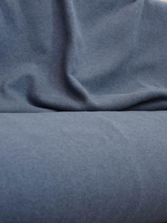 bono strickstoff blau meliert naehzimmer mit herz onlineshop