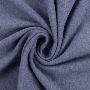 jersey stoff vanessa melange swafing blau naehzimmer mit herz onlineshop