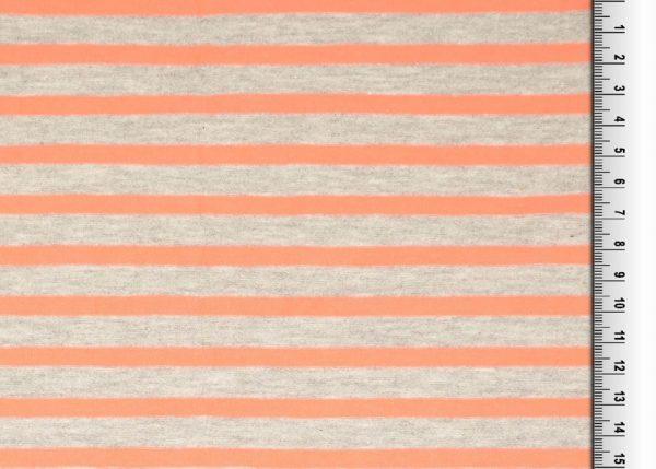 jersey streifen grau orange naehzimmer mit herz onlineshop
