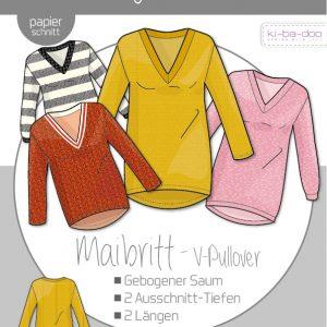 schnittmuster pullover v-ausschnitt maibritt kibadoo naehzimmer mit herz onlineshop