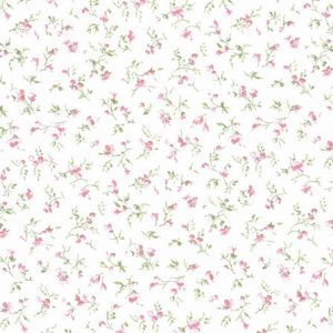 stoff baumwolle prinzessin kba weiss rosa blumen westfalenstoffe naehzimmer mit herz onlineshop