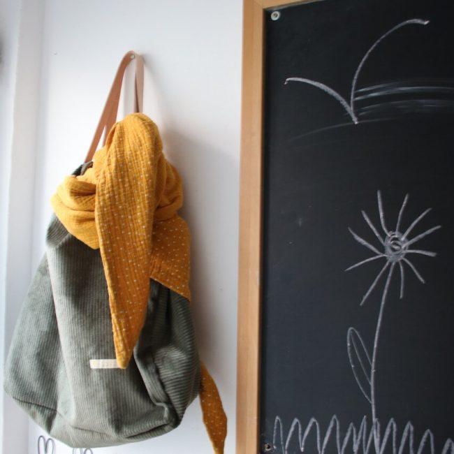 Cord Tasche Naehanleitung Naehzimmer mit Herz Materialset