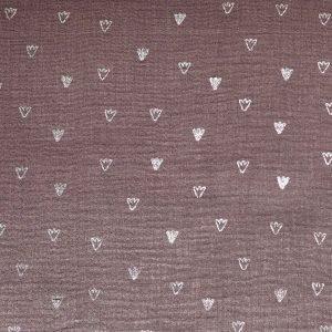 musselin ugly duckling foot prints naehzimmer mit herz onlineshop