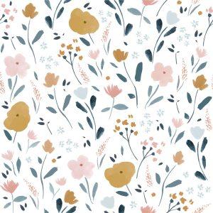 stoff baumwolle little rat flowers naehzimmer mit herz onlineshop