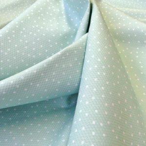 baumwolle stoff piqué capri blassguen-weiss tupfen westfalenstoff naehzimmer mit herz onlineshop