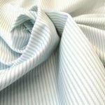 baumwolle stoff piqué capri weiss blassgruen westfalenstoffe naehzimmer mit herz onlineshop