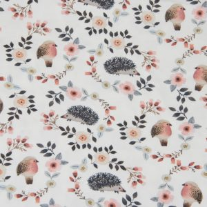 jersey stoff igel romance blossom naehzimmer mit herz onlineshop