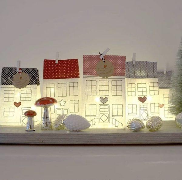 materialset lichtbeutel adventliche Weihnachtsdorf