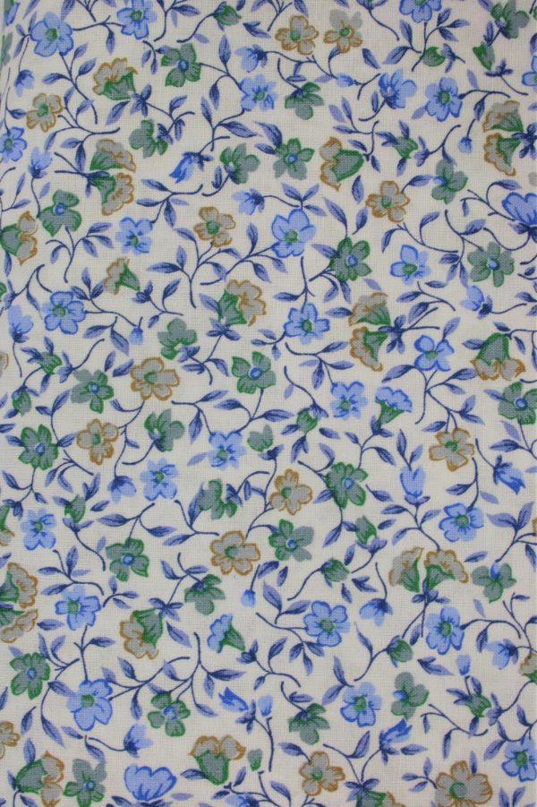 baumwolle renforce bluemchen mini fleurs sand blau westfalenstoffe naehzimmer mit herz onlineshop