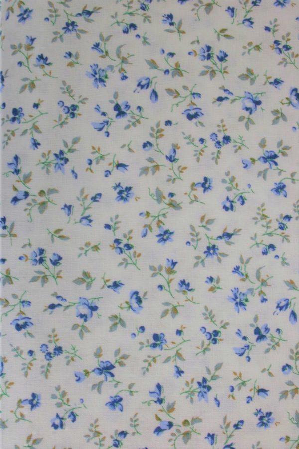 baumwolle renforce bluemchen mini fleurs weiss blau kleine bluemchen westfalenstoffe naehzimmer mit herz onlienshop