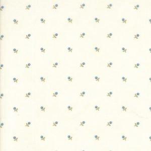 stoff baumwolle ann´s arbor minick & simpson weiss bluemchen naehzimmer mit herz onlineshop