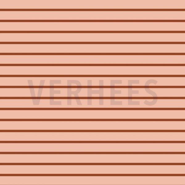 sweat french terry powder brique stoff naehzimmer mit herz