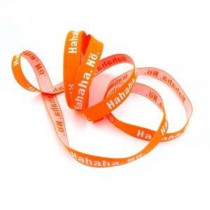 webband hahaha noe neon orange pruella naehzimmer mit herz onlineshop