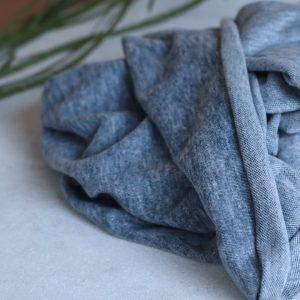 stoff baumwolle brushed pique blau mind the maker naehzimmer mit herz onlineshop