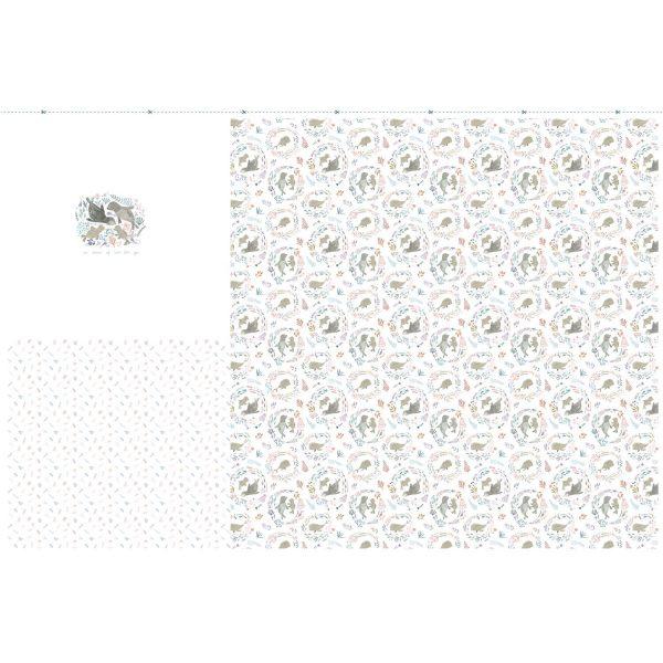 jersey stoff panel seals ballon dress naehzimmer mit herz onlineshop