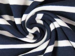 jersey stoff streifen breite streifen marine naehzimmer mit herz onlineshop