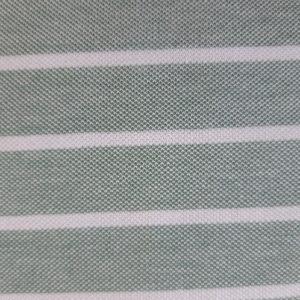 stoff baumwolle pique gruen streifen naehzimmer mit herz onlineshop