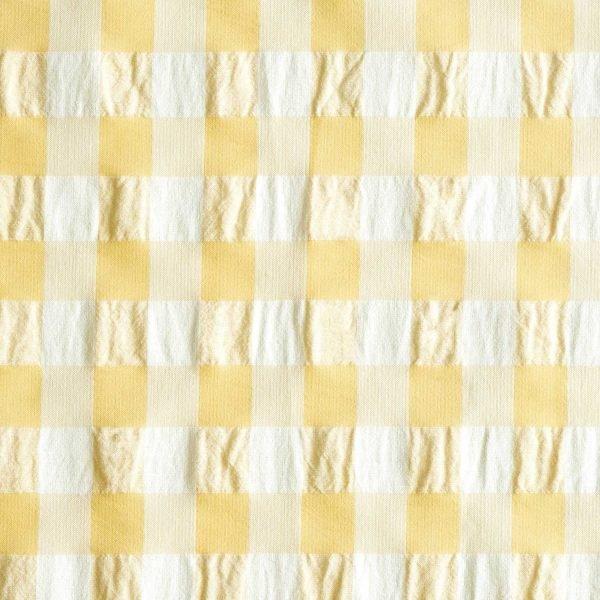 stoff baumwolle vichy yellow gelb naehzimmer mit herz onlineshop