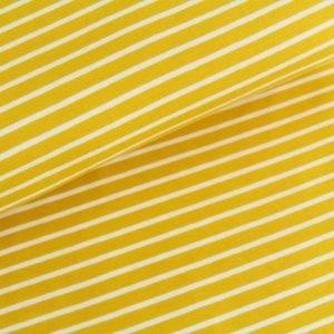 stoff jersey streifen sonnengelb stoffonkel naehzimmer mit herz onlineshop