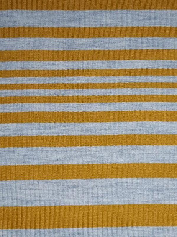 stoff jersey streifen unregelmaessig grau senf naehzimmer mit herz onlineshop