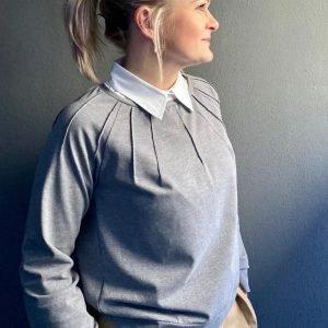 schnittmuster luna sweater with tucks finas ideen naehzimmer mit herz onlineshop