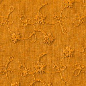 stoff baumwolle brodery flower maisgelb naehzimmer mit herz onlineshop