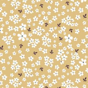 stoff baumwolle popelin spring flowers dusty yellow naehzimmer mit herz onlineshop