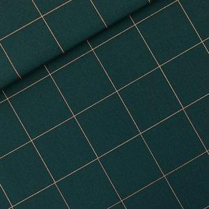 stoff canvas thin grid xl grün kupfer naehzimmer mit herz onlineshop