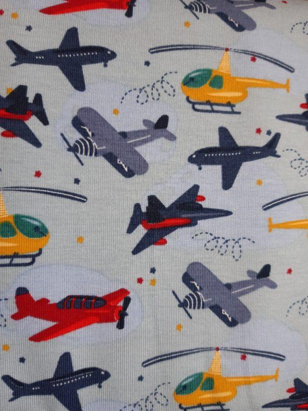 stoff jersey flugzeuge bunt naehzimmer mit herz onlineshop